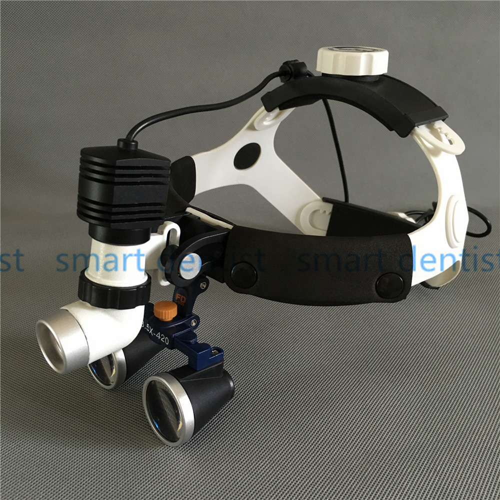 Good Quality New 5W LED Surgical Head Light dental Lamp All-in-Ones Headlight with loupes 2.5X ,3.5X , 5.0X , 6.0X good quality dental cordless endo motor with led light treatment 16 1 reduction contra angle