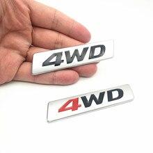 FDIK 3D Car Styling Chrome Metal Sticker AWD Emblem 4WD Badge Logo Tail Fender Decal for Toyota Impreza Honda 4X4 Off Road SUV стоимость