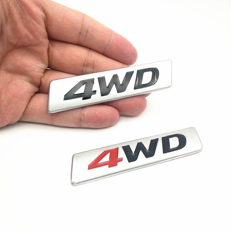 Fdik estilo do carro 3d chrome metal adesivo emblema awd 4wd emblema logotipo cauda fender decalque para toyota impreza honda 4x4 fora da estrada suv