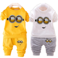 Kids clothing set spring autumn new baby boy girl clothes brand cotton Minions children long sleeve t shirt+pants toddler suit