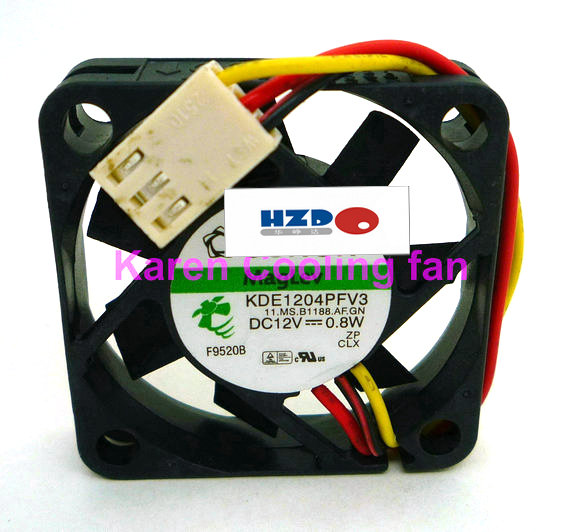Купить с кэшбэком hzdo 4cm KDE1204PFV2 KDE1204PFV3 4010 12v 0.8w 3wire cooling fan  4CM 40*40*10MM 4*4*1CM Support