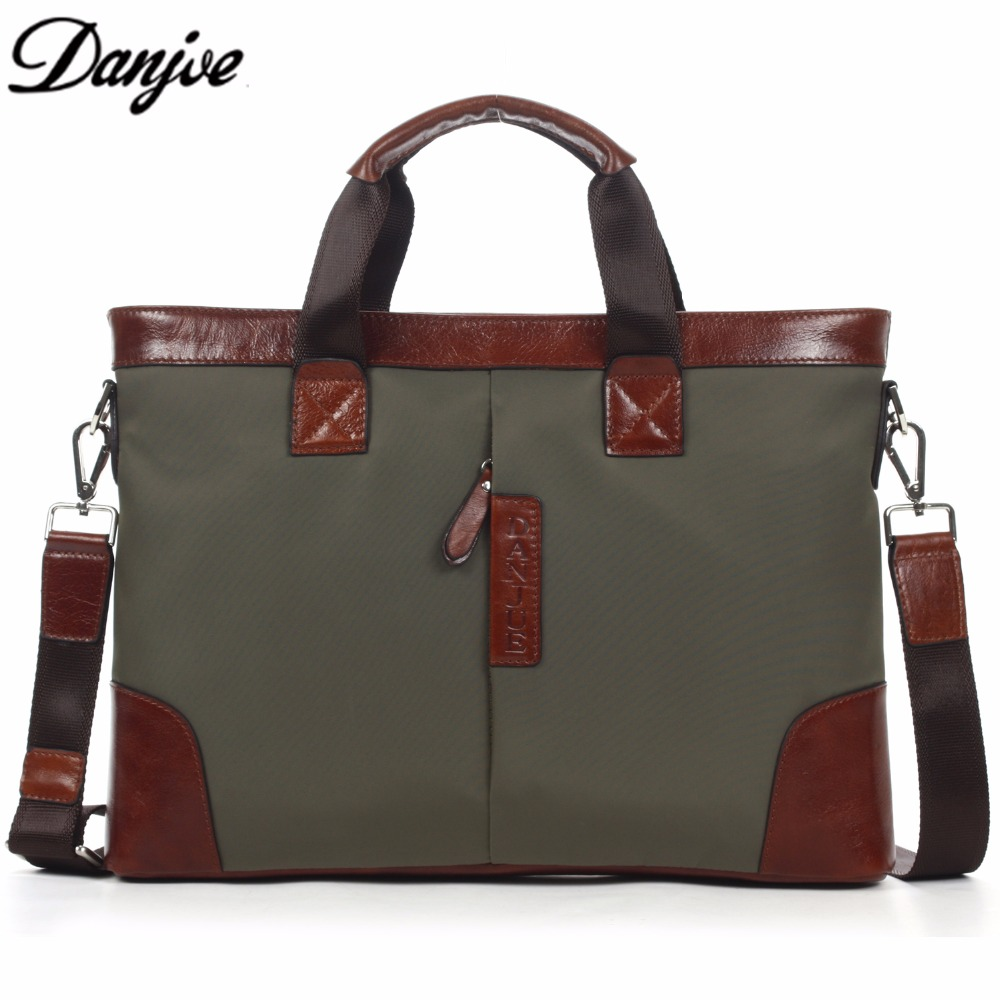 DANJUE New 2017 Brand Fashion Man Casual Business Briefcase Messenger Bag Men Shoulder Bags Laptop Bag Army Green Handbag 3882-1  kundui 2016 new hot sale pu multi pocket men business briefcase handbag man shoulder messenger bag laptop bags free shipping