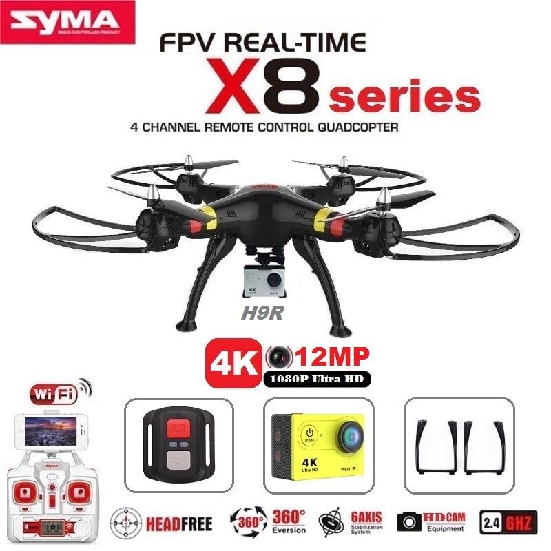 SYMA X8C X8G X8W X8HG X8 FPV RC Drone Avec H9R 4 K caméra 1080 p Ultra HD WiFi 2.4G 4CH RC Quadcopter Dron RTF RC hélicoptère