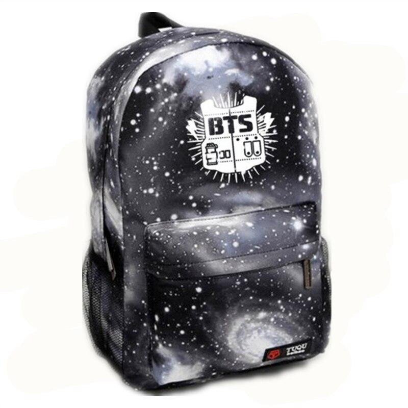 2018 Korean Bangtan Boys Backpack Nylon New BTS Printing School Bag Young  Boy Girls High Quality Waterproof Travel Bag Mochila 9cf9f66b23b18