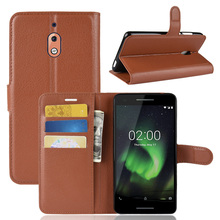 Case For Nokia 2.1 /2V/2 V Luxury Leather Wallet Flip With Back Kickstand Card Slot Holder Skin Cover 2v 2018