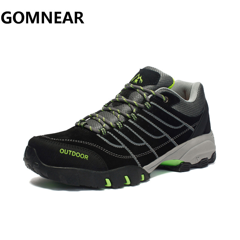 GOMNEAR Winter Men Hiking Shoes Outdoor Comfortable Trekking Sports Sneakers Big Size Men Breathable Boots Free Shipping peak sport men outdoor bas basketball shoes medium cut breathable comfortable revolve tech sneakers athletic training boots