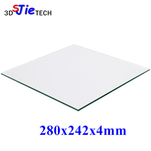 280x242x4mm 3D Printer 100% Borosilicate Glass plate for DIY Flyingbear P905X 3D printer Build Plate(China)