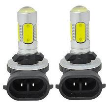 2pcs Car Fog Light12V 7.5W 881 COB LED Light H27W/2 886 889 894 896 898 Daytime Running Lights DRL Bulb White 6000K