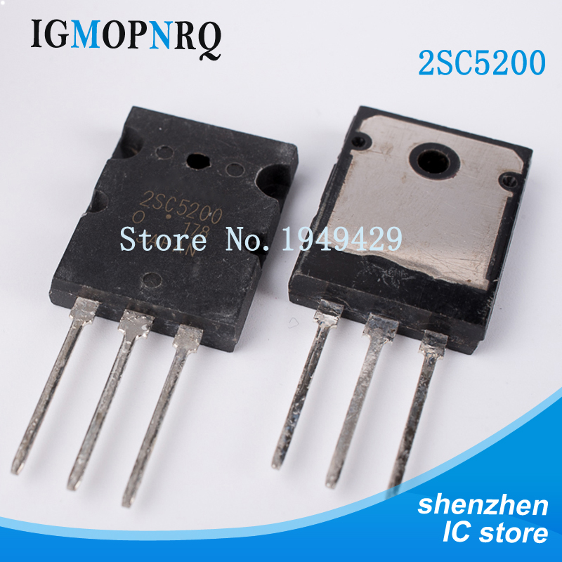 Free shipping 5pcs/lot Transistor 2SC5200 C5200 original Product TO-3PFree shipping 5pcs/lot Transistor 2SC5200 C5200 original Product TO-3P
