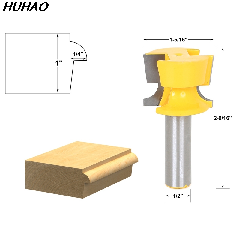 1pcs Cabinet Door Lip With Tapered Back Rabbet Router Bit - 1/2