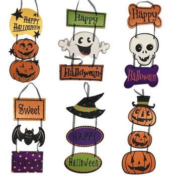 Hoomall Halloween Decorazioni Per La Casa Appeso Pendenti con gemme e perle Ornamenti Murali Rifornimenti Del Partito Artigianato FAI DA TE Per Bambini Giocattoli Hallowmas Accessori