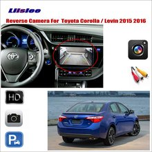 Liislee Car Reverse Rear View Camera For Toyota Corolla / Levin 2015 2016 / Connect Original Factory Screen / RCA Adapter for toyota allion premio auris corolla bb liislee car side view camera blind spots areas flexible copilot camera monitor syste