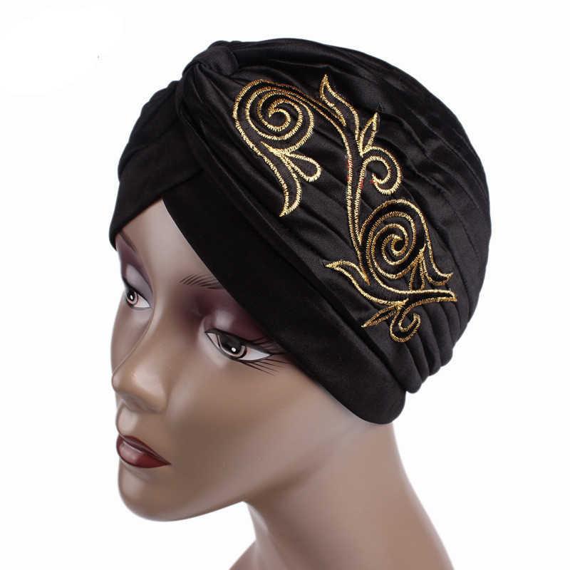 Новые женские элегантные плиссированные тюрбан, повязка на голову Кепки s шляпы в классическом винтажном и ретро-стиле шляпа Кепки головной убор в Индийском Стиле Мусульманских