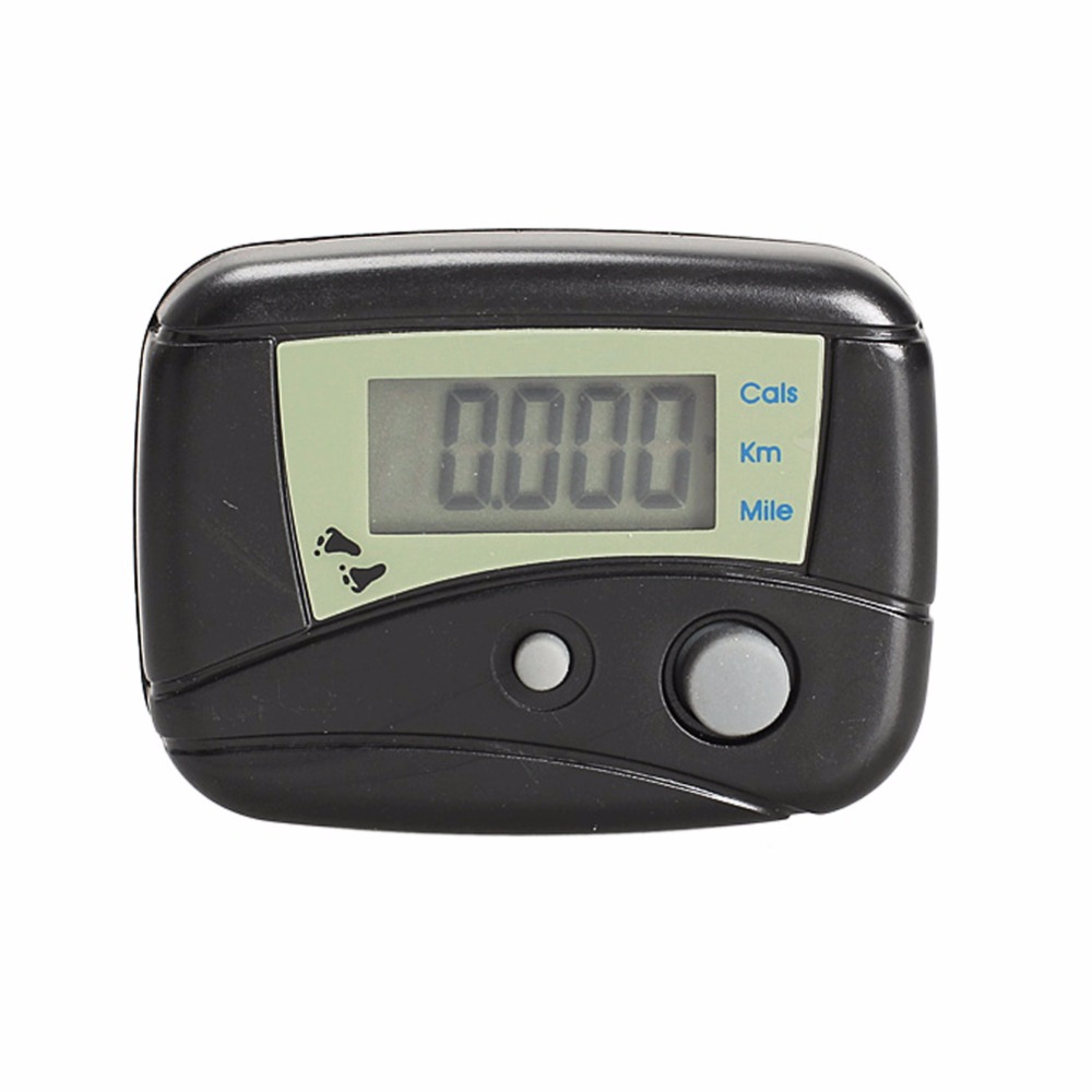 LCD Run Step Pedometer Walking Distance Calorie Counter Passometer Black A1 SS