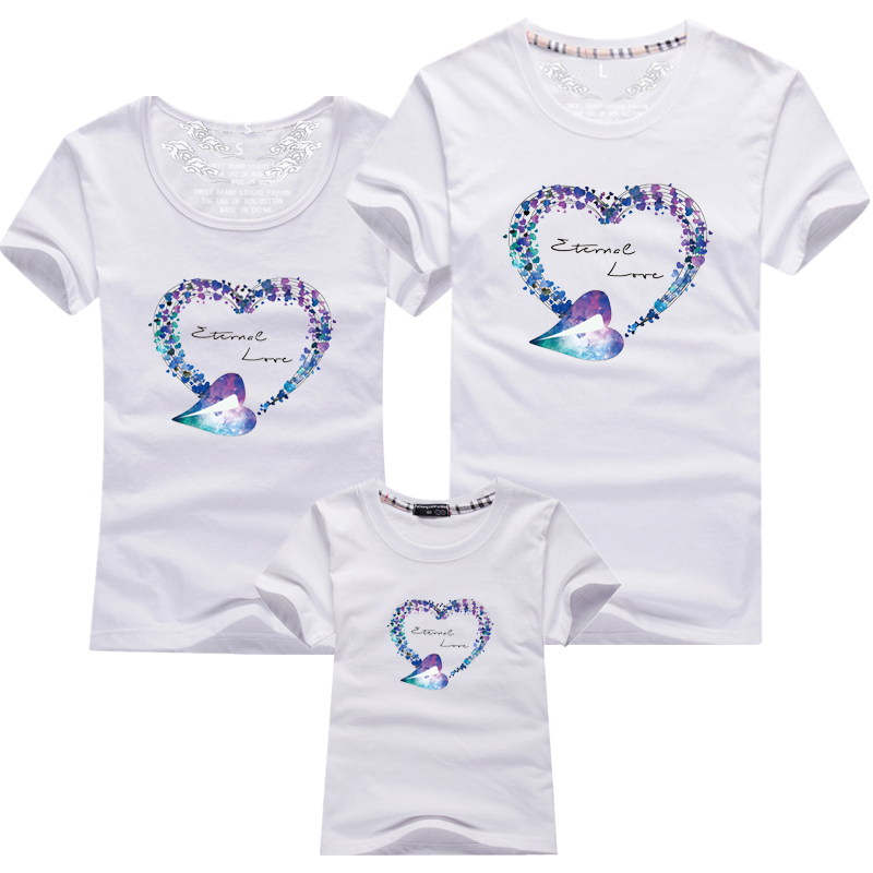 HTB1xepmPFXXXXcpXVXXq6xXFXXXQ - Mommy and Me Clothes Family Look Summer LOVE Ggarland Pattern Family T Shirt Father and Son Clothes Family Matching Outfits