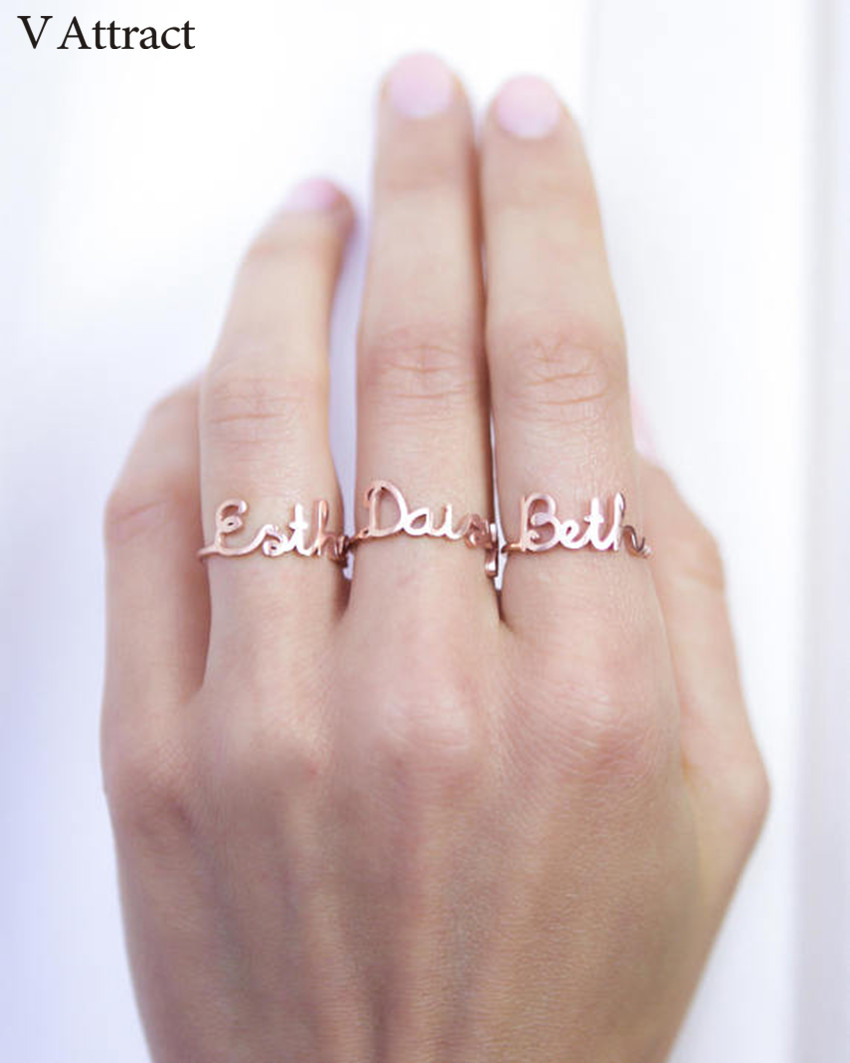 V Attract Custom Name Ring Women Men Bijoux Wedding Jewelry ...