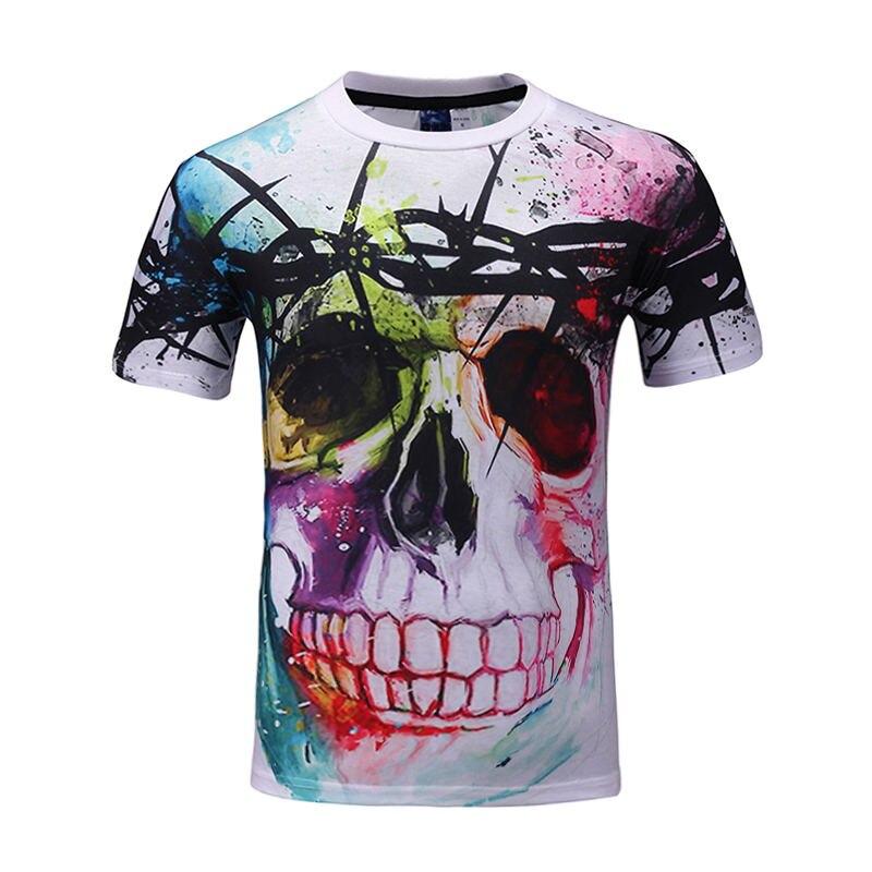New Fashion Brand T Shirt Hip Hop 3d Print Skulls Harajuku Animation 3d T Shirt Summer Cool Tees