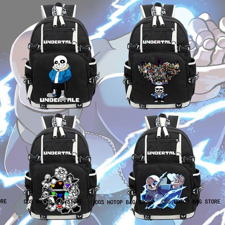 Hot Men Game Undertale Backpack Knapsack Black Packsack School Student Otaku Bag anime death note backpack knapsack packsack travel study school bags otaku shoulders bag package