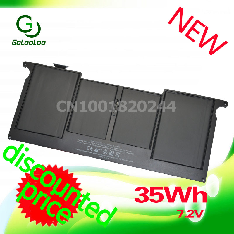 Golooloo Pour Apple 7.2 v 35Wh Batterie D'ordinateur Portable A1375 MacBook Air 11