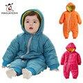 Детские Snowwear Хлопка Проложенный Один Кусок Теплой Одежды детские Комбинезоны Ребенка Ползунки Детские Зимние Комбинезоны Новорожденный Вниз и Парки