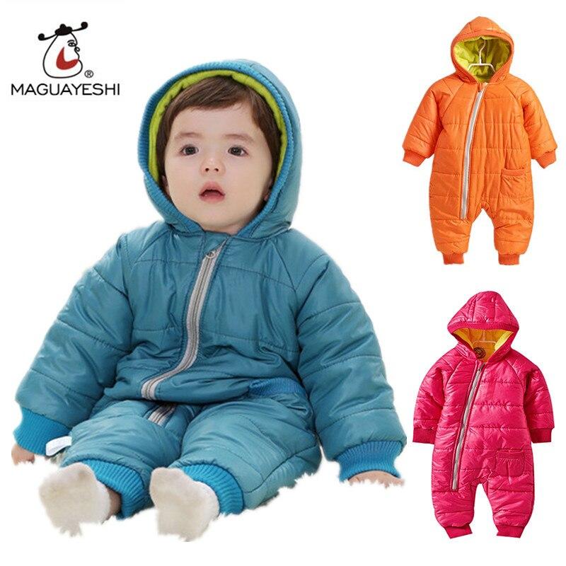 5632b4916 Baby Snowwear Cotton Padded One Piece Warm Outerwear Children s ...