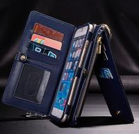 Luxury Genuine Leather Wallet Flip Organizer Phone Case Cover For IPhone 6 6s