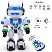 WISHTIME Voice RC Command Electronic Robot New Recharge Remote Control Intellegent Robot Allen Voice Command Robot Singing Dance(China)