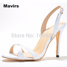 Mavirs Fashion women's ladies girls princess wedding bridal party office sexy dress high heel patent buckle sandals pumps shoes