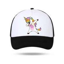 4a58c5ee74a06 Fashion Dabbing Unicorn Cap New Men Snapback Caps Print Women Hats Cartoon Baseball  Cap for Boys