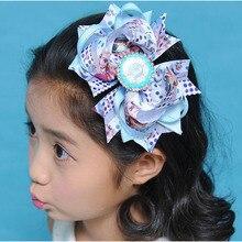 12 шт.,, 5,5 дюймов, лента, модные повязки на голову, заколка для волос, принцесса Эльза и Анна, мультяшная заколка для волос для детей