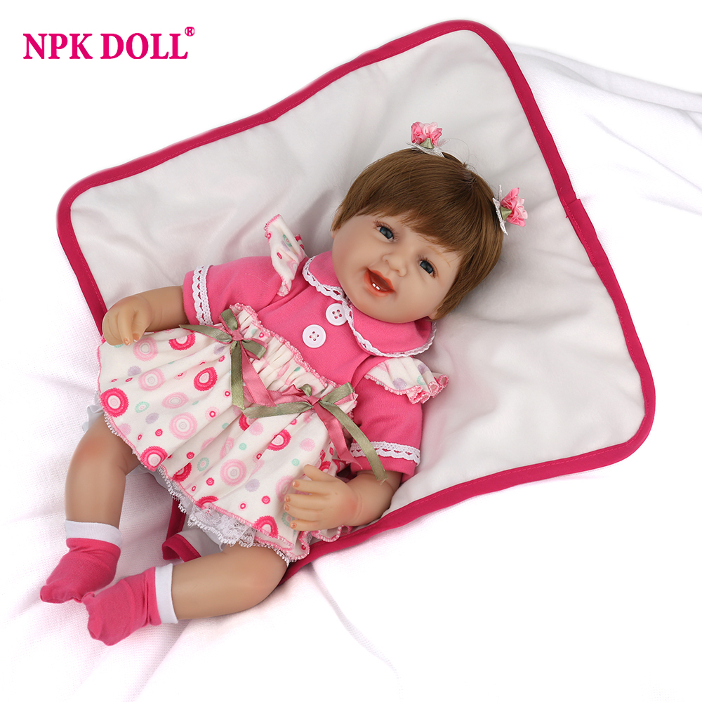 NPKDOLL 42 cm baby dolls toys for girls realistic princess doll adorable baby reborn silicone menina dolls for girls collection кепка тракер с сеткой printio питтсбург пингвинз