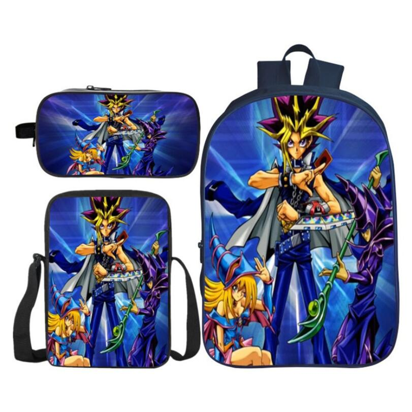 3Pcs/Set Fashion 3D Printing Yu-Gi-Oh Kids Baby School Bags Duel Monsters Rucksack Children Shoulder Backpack for Boys and Girls3Pcs/Set Fashion 3D Printing Yu-Gi-Oh Kids Baby School Bags Duel Monsters Rucksack Children Shoulder Backpack for Boys and Girls