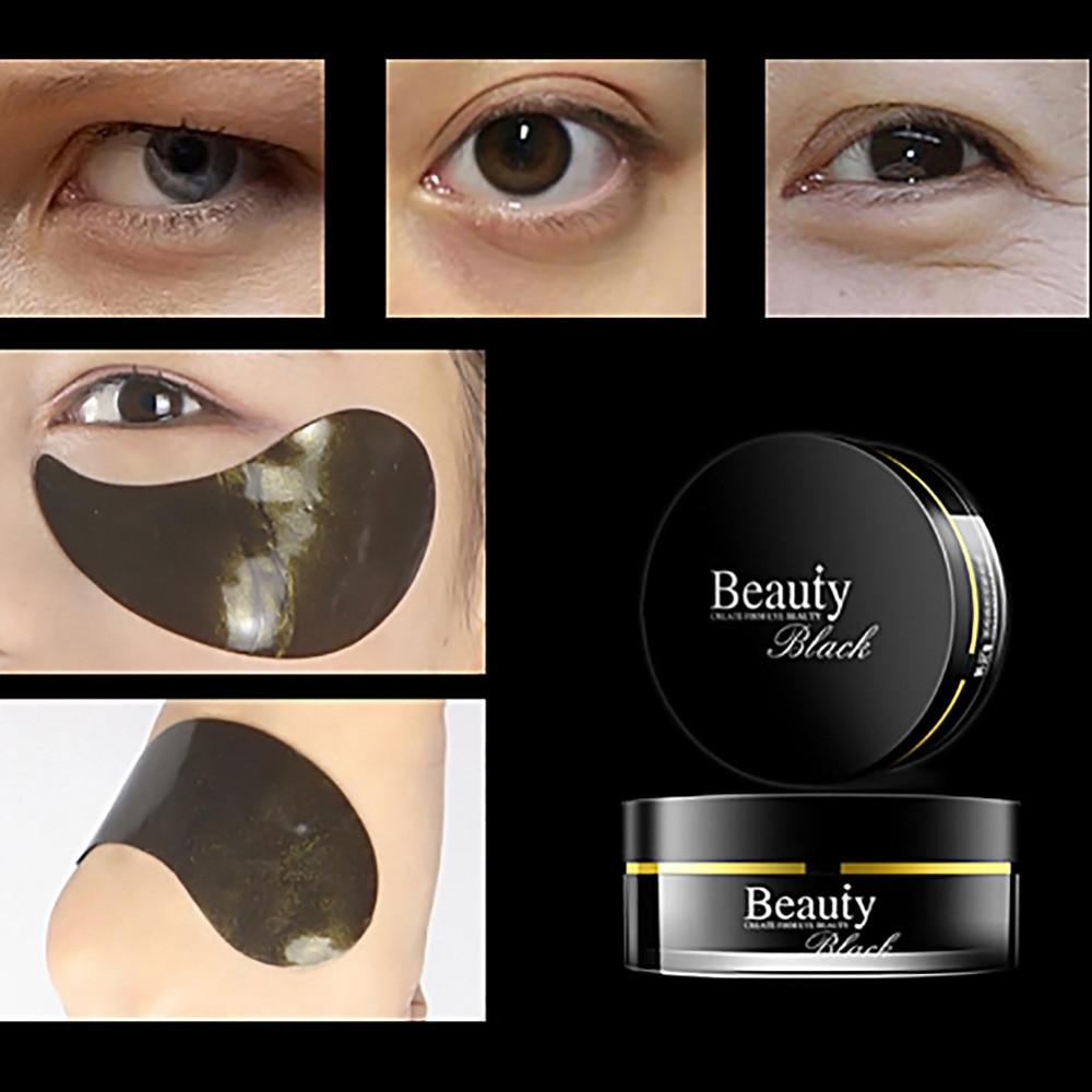60pcs Black Pearl Collage Golden Eye Mask Sleep Mask Eye Patches Whitening Anti Wrinkle Ageless Dark Circles Eye Mask Skin Care
