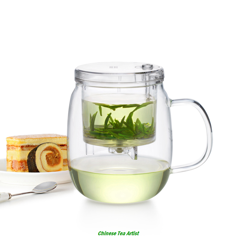 Hot Sale Heat Resistant Glass Tea Mug with Lid and Infuser 600ml, Convenient Tea Maker,Modern Tea Ware,Unique Gift,Free Shipping