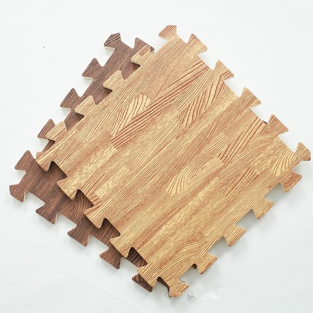 Soft Eva Foam Puzzle Crawling Mat Wood Interlock Floor Tiles