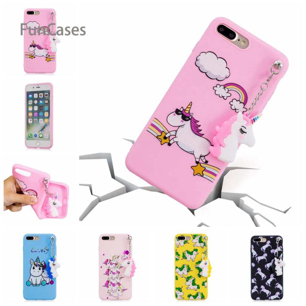 Detail Feedback Questions about Pink Unicorn Pendant Phone Case sFor  Carcasa iPhone 7 Plus Soft Silicone Back Cover Portable Exotic Pouch Case  For iPhone 8 ... 5374cd56e0eb7