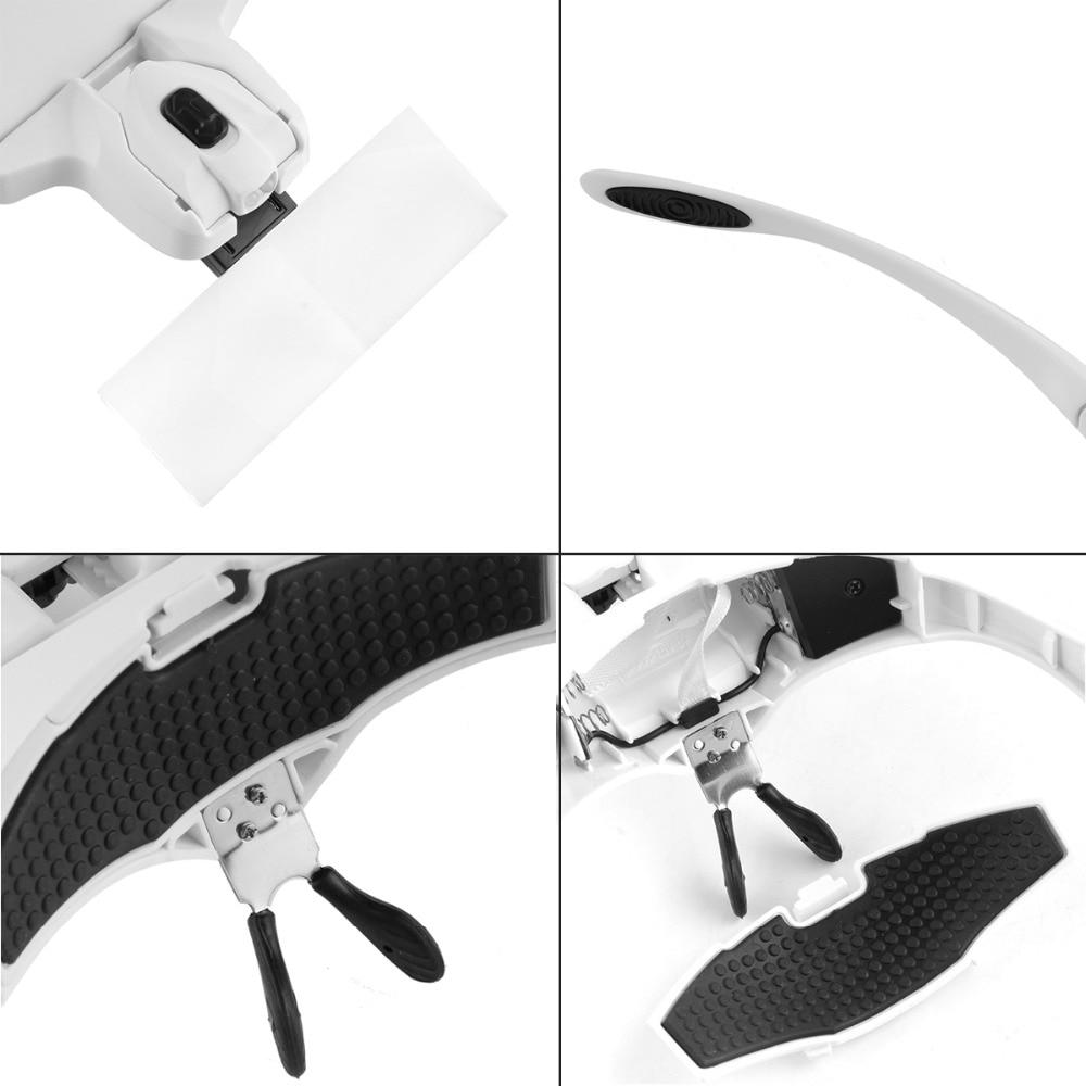 5 lente ajustável lupa cabeça lupa com
