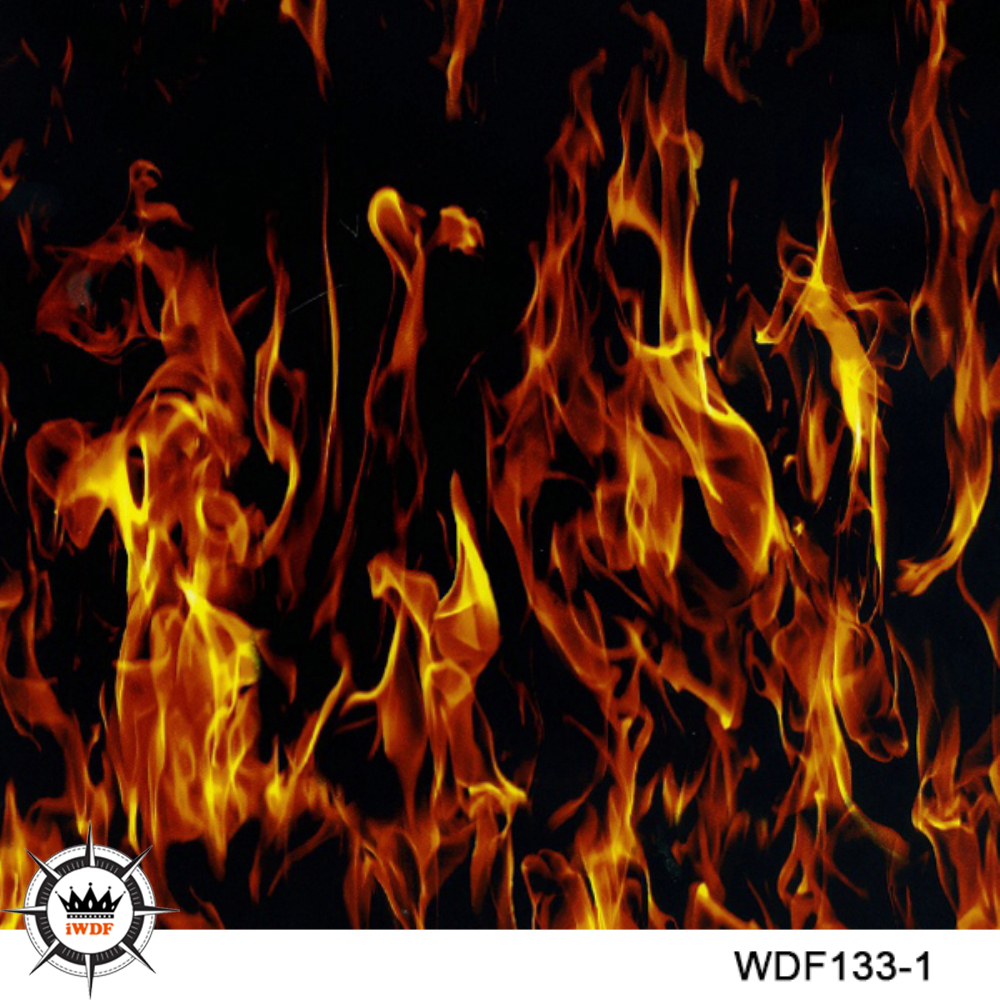 WDF133-1 Декоративный материал 10 квадратных Ширина 1 м пламя воды передачи печати пленочный принтер