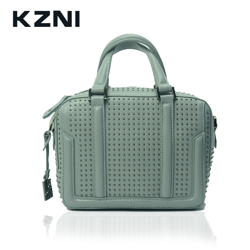 KZNI Women Top-handle Tote Bags for Girls Genuine Leather Crossbody Shoulder Clutch Bags Designer Handbags High Quality 1400 нтм игрушка пластм набор погремушек 4602010375831 мульт