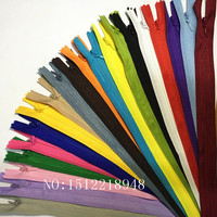 50pcs Colorful Nylon 3# Closed End Invisible Zippers 12 inch (30cm) Tailor Sewing Crafts 20 Color