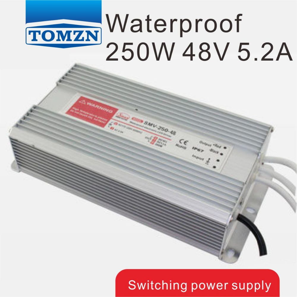 купить 250W 48V 5.2A Waterproof outdoor Single DC Output Switching power supply for LED SMPS по цене 2242.56 рублей