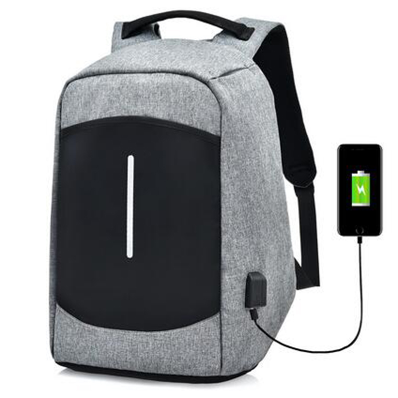 TOP POWER Anti theft Men Backpack Fahison Multi-function USB Charge College Students Bag Laptop Backpack For 15.6inch School Bag