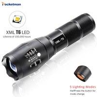 Led el feneri 3800 lümen xm-t6 zumlanabilir led meşale için 18650/AAA siyah Su Geçirmez linterna led el fenerleri Kamp için