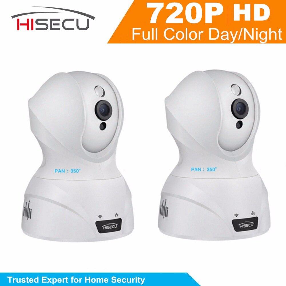 ФОТО Hisecu IP Camera Home Security 720P Wifi Wireless IP Camera Baby Monitor Camera HD 2MP Wifi Night Vision Camera 3.6mm lens 2Pcs