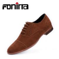FONIRRA Fashion Men Casual Shoes Oxfords Faux Suede Leather Men Flats Luxury Lace Up Zapatillas Hombre Moccasins Dress Shoes 402