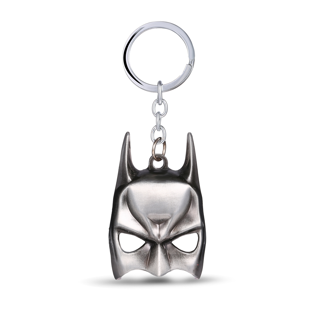 MS JEWELS Movie Show Super Hero Batman Mask Key Chain Alloy Metal Key Rings For Gifts Keychains Chaveiro