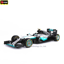 Bburago 1:18 F1 W07 Mercedes Benz NO6 manufacturer authorized simulation alloy car model crafts decoration collection toy tools стоимость