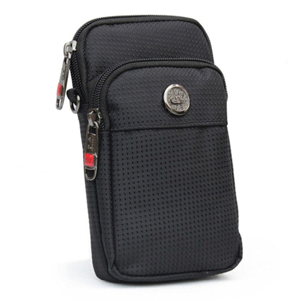 Top Quality Unisex Waterproof Oxford Cell Mobile Phone Case Cover Purse Pocket Messenger Shoulder Belt Fanny Waist Pack Hook Bag