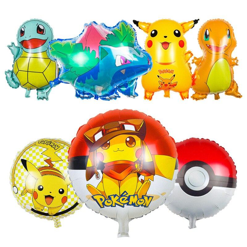 Pikachu Pokemon Foil Balloons Inflatable Toys Helium Balloons Children Classic T