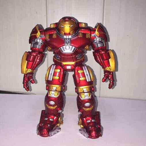 Avengers 2 Iron man Mark 43 metal can light Hulkbuster Action Figures PVC brinquedos Collection Figures toys for christmas gift iron man action figure mini egg attack light 6pcs set action figures pvc brinquedos collection figures toys for christmas gift